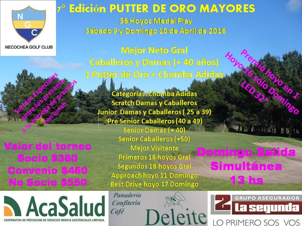 7° PUTTER DE ORO MAYORES
