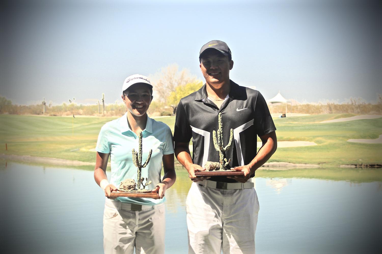 Agustina Zeballos y Norman Xiong, ganadores del Thunderbird International Junior
