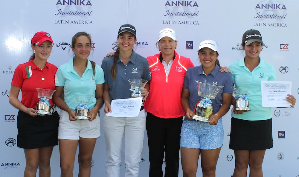 Cory Lopez, Ela Anacona, Pilar Berchot, Annika, Agustina Gómez Cisterna y Laura Edmonds