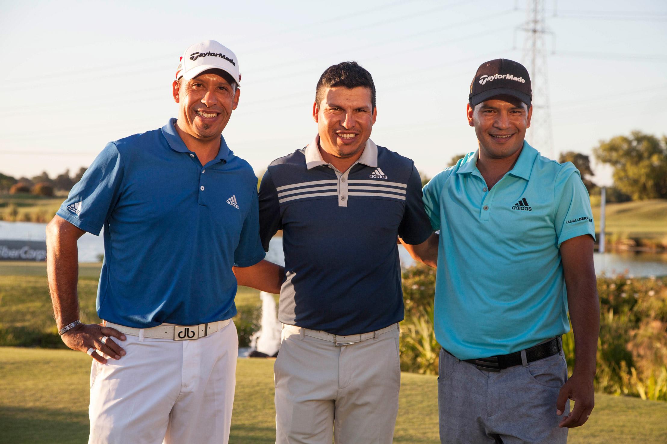 Miguel A. Carballo, Andrés Romero y Fabián Gómez