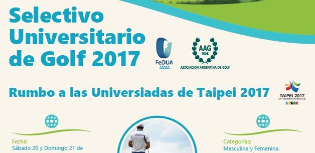 Flyer Torneo selectivo universitario de Golfhome