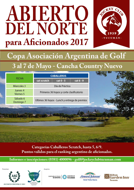 Abierto Del Norte Para Aficionados Copa Asociacion Argentina De Golf  De Mayo