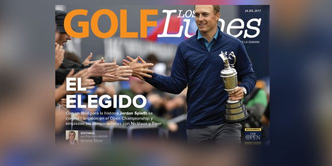 Jul 23, 2017; Southport, ENG; Jordan Spieth greets fans after winning the 146th Open Championship golf tournament at Royal Birkdale Golf Club. Mandatory Credit: Steve Flynn-USA TODAY Sports
