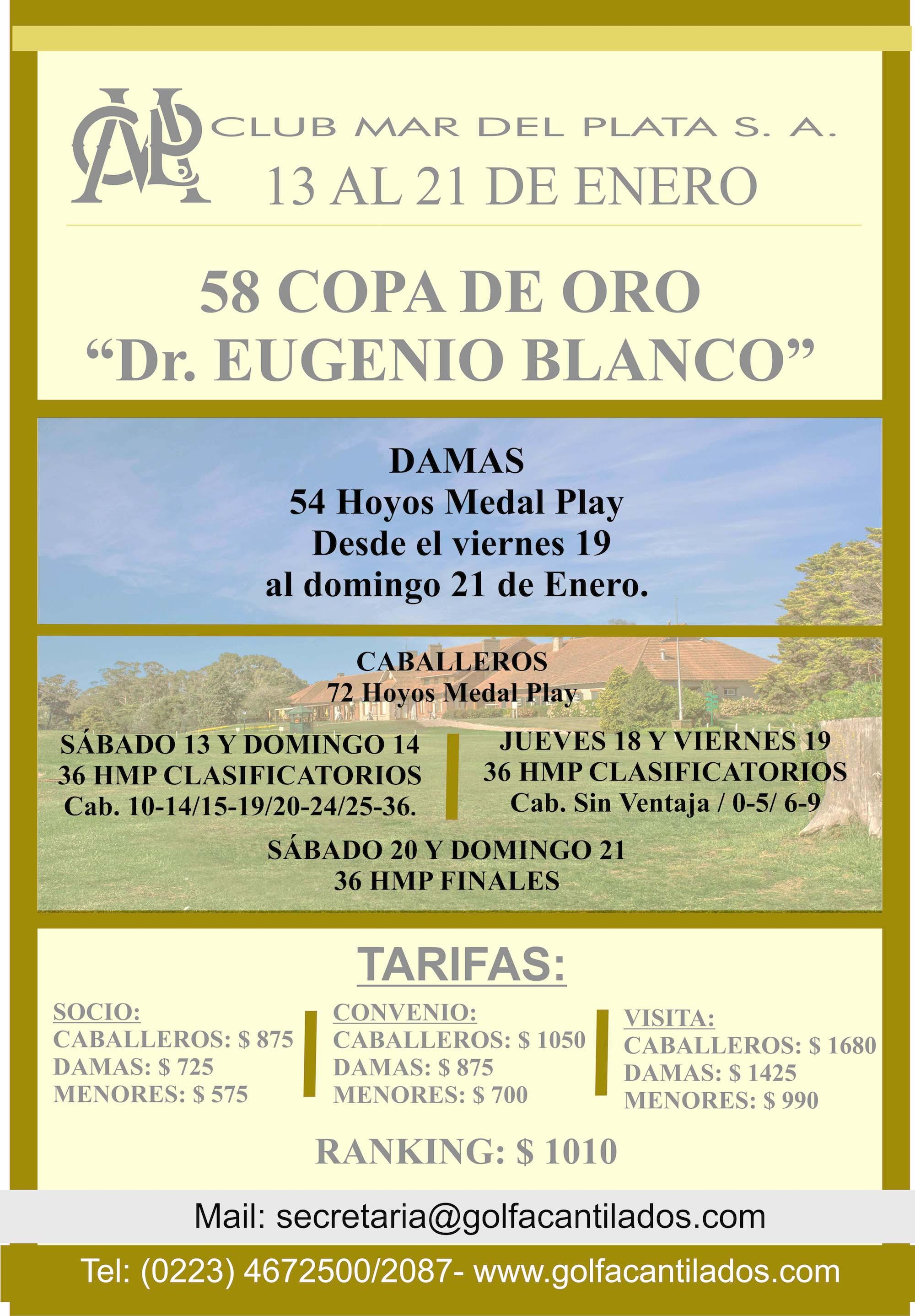 COPA DE ORO EUGENIO BLANCO