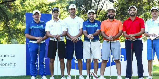 Santiago, CHILE: Players of Argentina pictured at the 2018 Latin America Amateur Championship at the Prince of Wales Country Club during Practice day on January 19, 2018. (Photo by Enrique Berardi/LAAC)