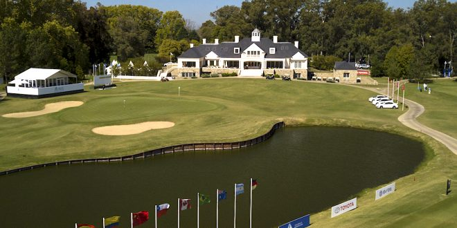 BUENOS AIRES, ARGENTINA - APRIL 17: A course scenic of the 18th green and club house during practice for the PGA TOUR Latinoamerica Molino Canuelas Championship at Canuelas Golf Club on April 17, 2018 in Buenos Aires, Argentina. (Photo by Enrique Berardi/PGA TOUR)