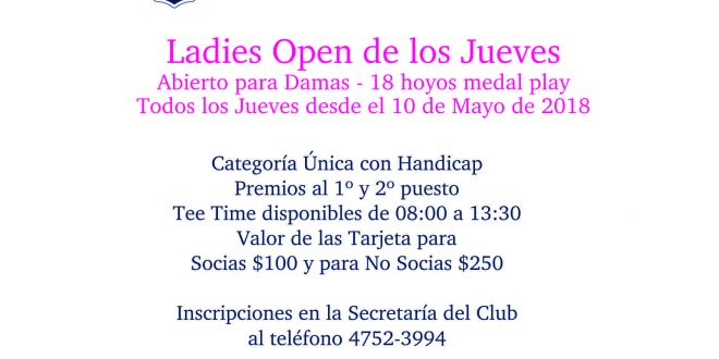 Ladies Open 2018 Rev B02 - FB - Corto