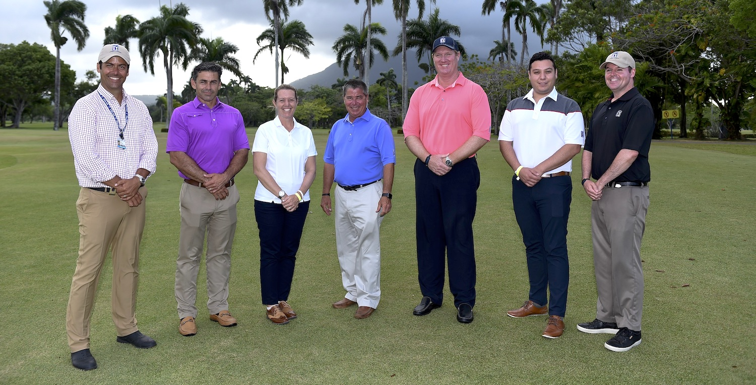 PUERTO PLATA, DOMINICAN REPUBLIC - MAY 19: Rules team during the third round of the PGA TOUR Latinoamerica Puerto Plata DR Open at Playa Dorada Golf Course on May 19, 2018 in Puerto Plata, Dominican Republic. (Photo by Enrique Berardi/PGA TOUR)