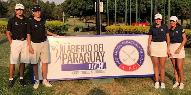 Exequiel Rodríguez Barri,  Santiago Bailleres, Josefina Rendo y Catalina Rendo,  jugadores designados por la AAG.
