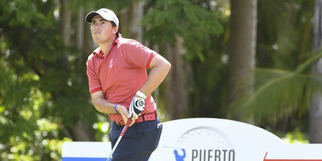 PUERTO PLATA, DOMINICAN REPUBLIC - MAY 18: Andres Gallegos of Argentina during the second round of the PGA TOUR Latinoamerica Puerto Plata DR Open at Playa Dorada Golf Course on May 18, 2018 in Puerto Plata, Dominican Republic. (Photo by Enrique Berardi/PGA TOUR)