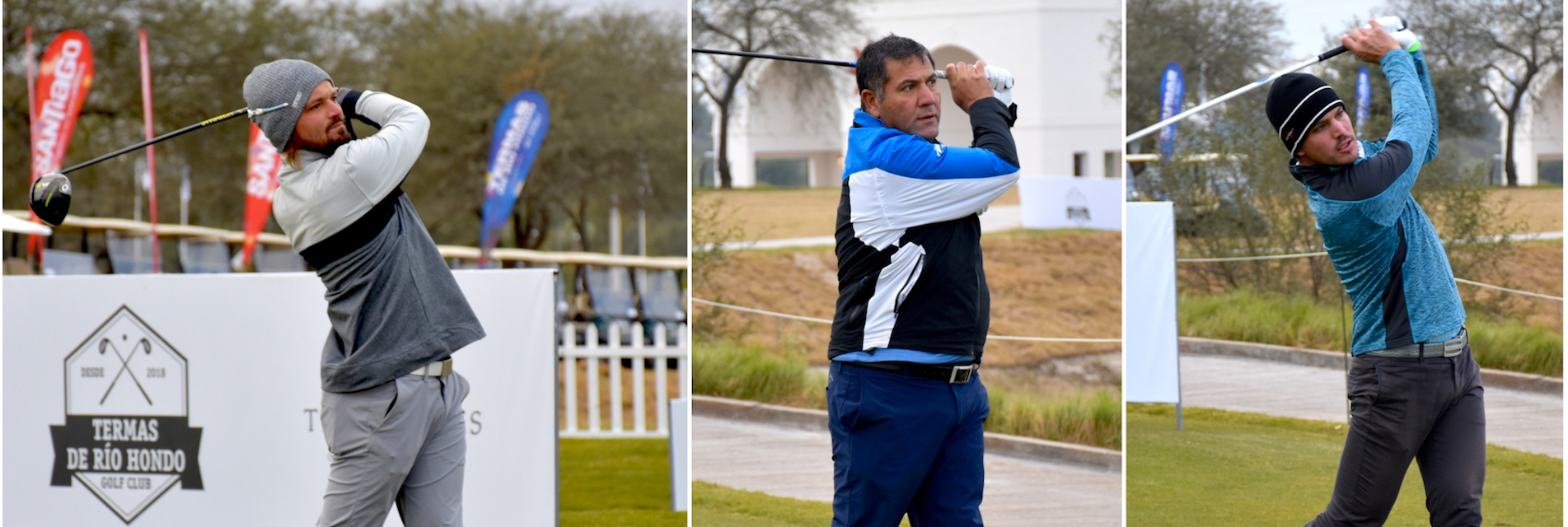 Brandon Robinson Thompson, Ricardo González y Leandro Marelli.