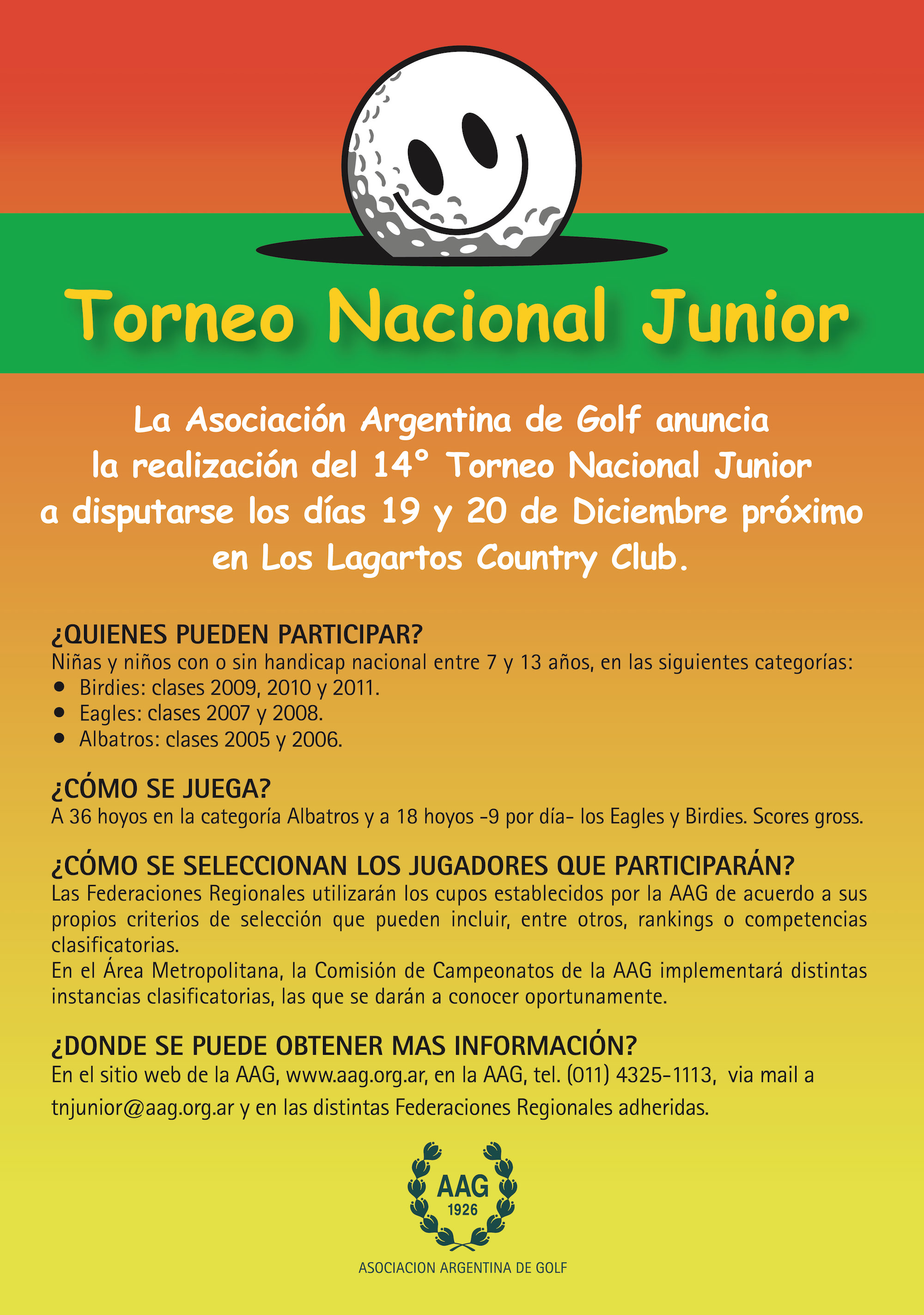 008 - AAG TORNEO JUNIOR Afiches Junior 2018