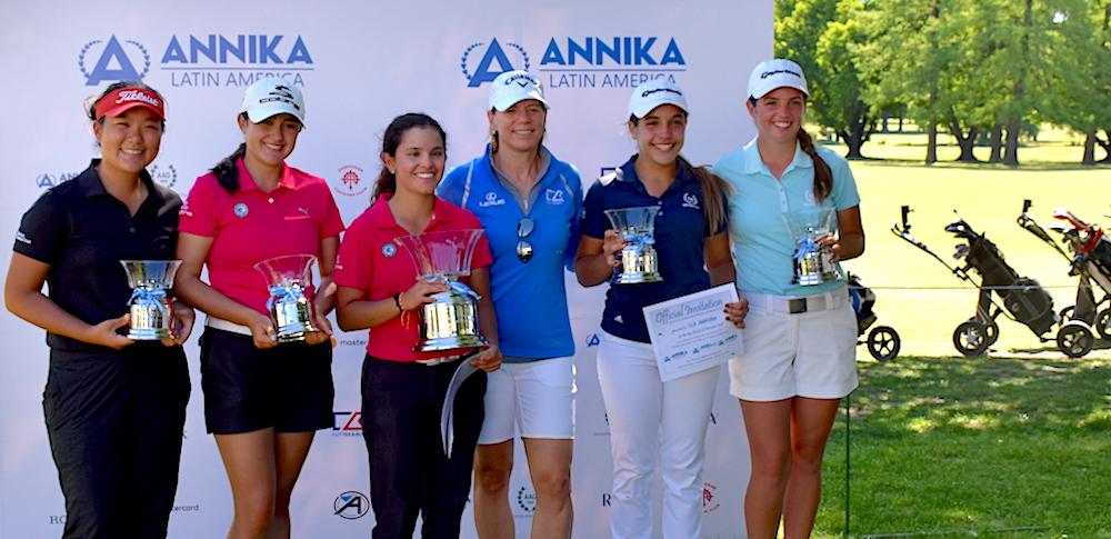 Eum Kim Yan, María José Bohorquez, Cristina Ochoa, Annika, Ela Anacona y Valentina Rossi.