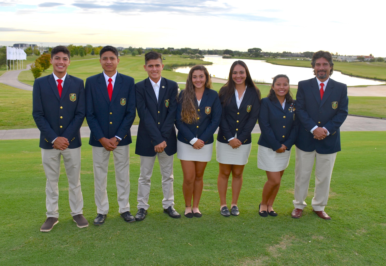 Bolivia. Maico Vega, Cristian Terceros, Hugo Algarañaz, Luciana Calbimonte, Sofía Roda, Michelle Rojas y Luis Vega.