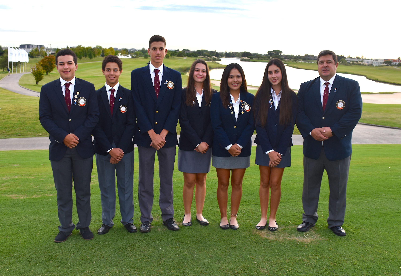 Paraguay. Fabricio Meza, Erich Fortlage, Mathias Núñez, Giovanna Fernández, Viviana Prette, María Bethania Fernández y Hugo Fernández.