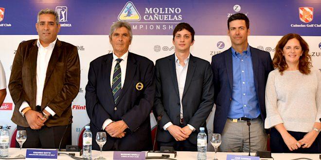 Andrés Gallegos (ARG), durante la presentación del III Molino Cañuelas Championship. / Gentileza: Enrique Berardi/PGA TOUR