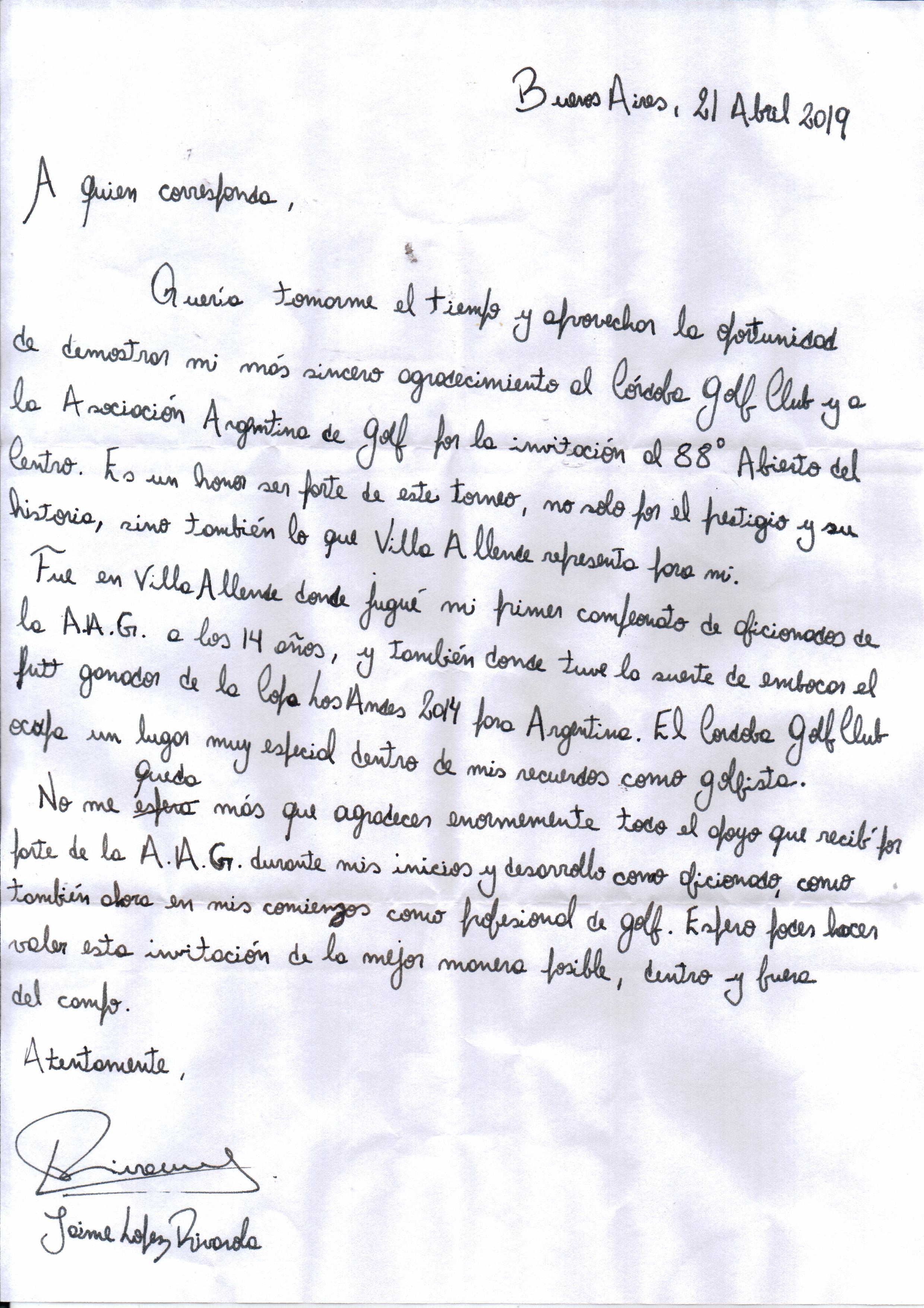 carta jaime lr