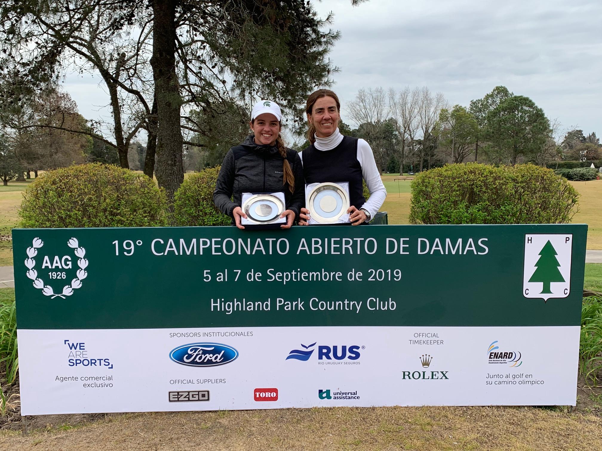 Valentina Rossi y María José Ferrero.