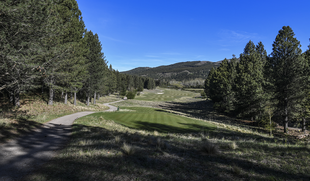 NEUQUEN, ARGENTINA - NOVEMBER 05: A course scenic of the third hole fairway prior to the PGA TOUR Latinoamerica Neuquen Argentina Classic at Chapelco Golf Club on November 5, 2019 in Neuquen, Argentina. (Photo by Enrique Berardi/PGA TOUR)