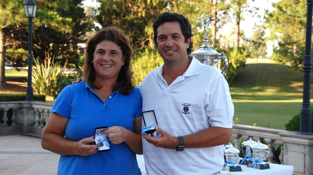 María Florencia Benito y Javier Pintos.