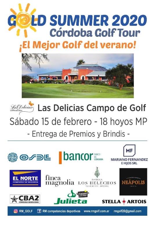 afiche golf summer